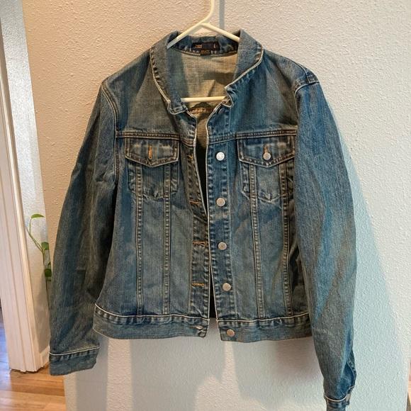 "J. crew jean jacket ""vintage"" wash size large"